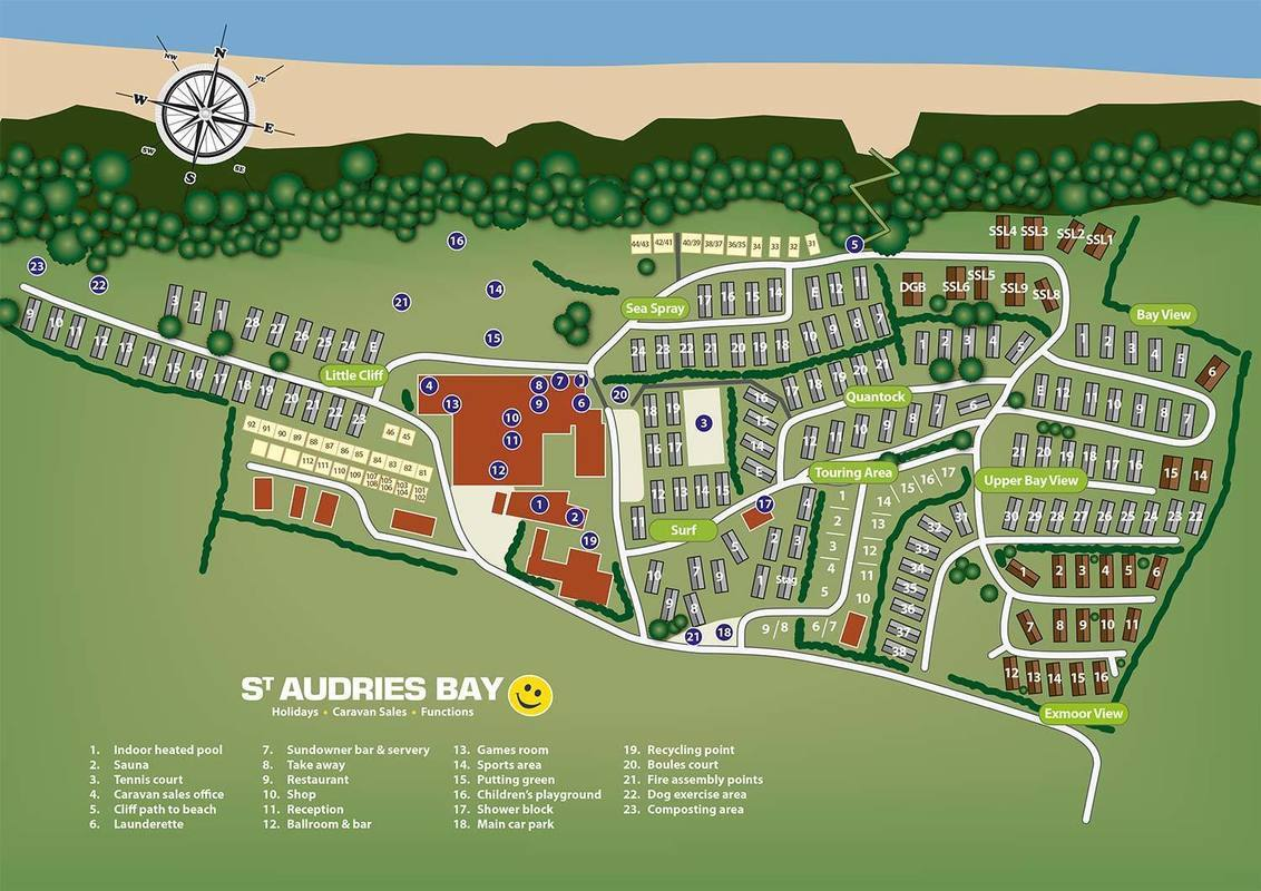 St Audries Site Plan 2016